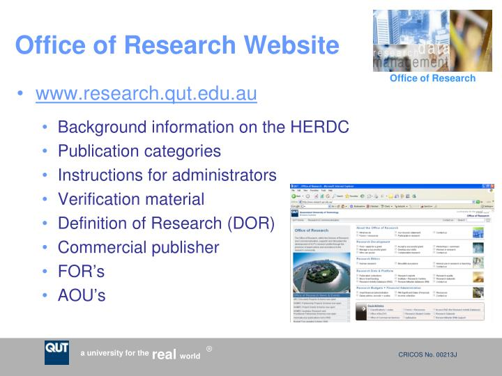 Office of Research Website