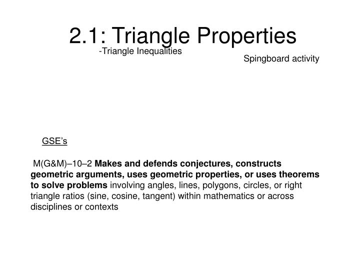 PPT 2 1 Triangle Properties PowerPoint Presentation ID