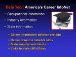 data tool america s career infonet
