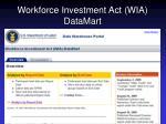 workforce investment act wia datamart