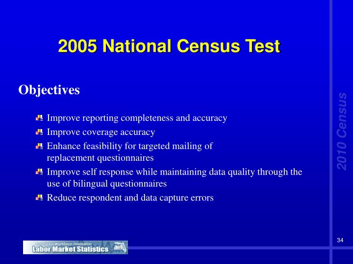 2005 National Census Test