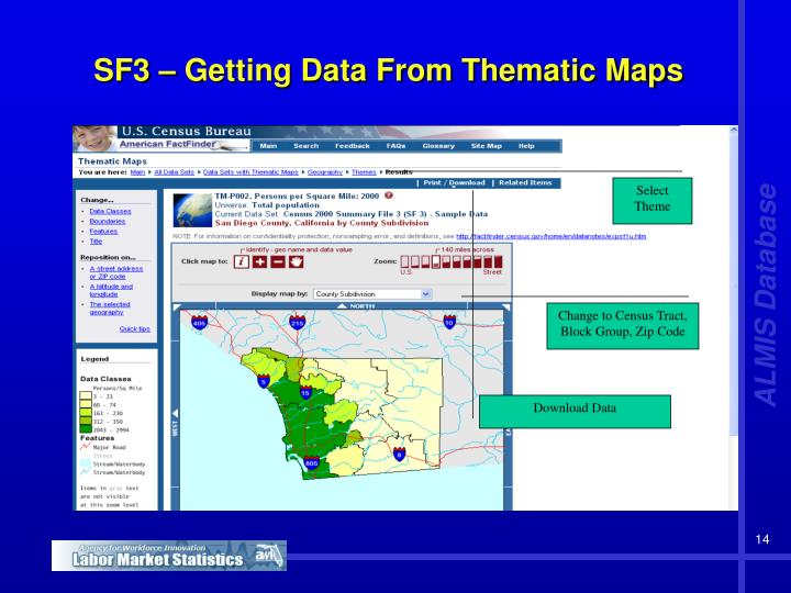 SF3 – Getting Data From Thematic Maps