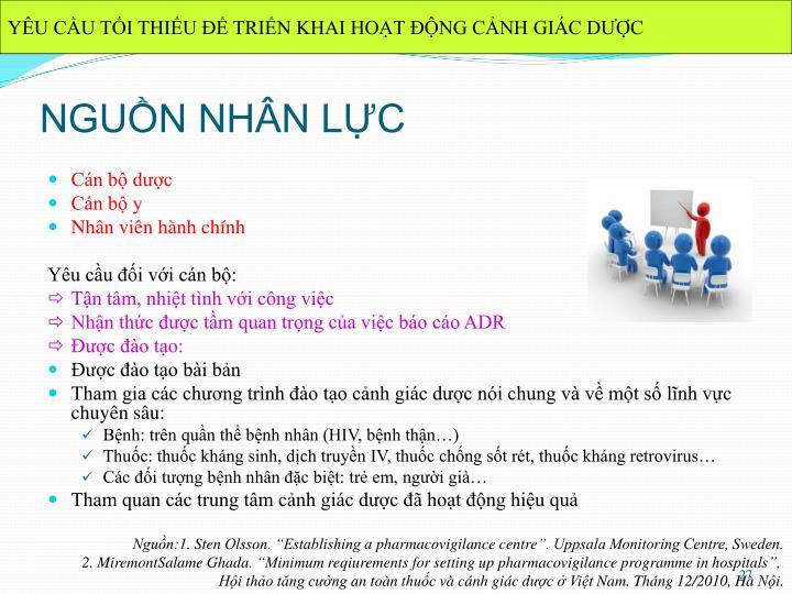 ĐIỀU KIỆN CẦN THIẾT CHO HOẠT ĐỘNG THÔNG TIN THUỐC