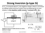 strong inversion p type si