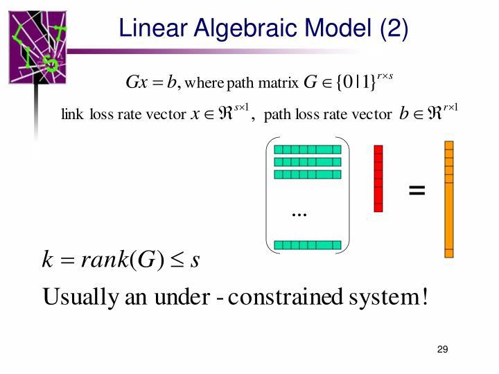 Linear Algebraic Model (2)