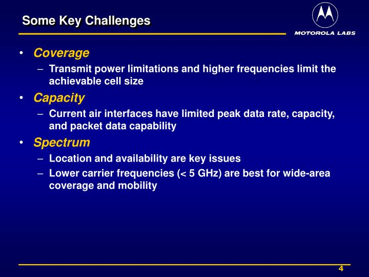 Some Key Challenges