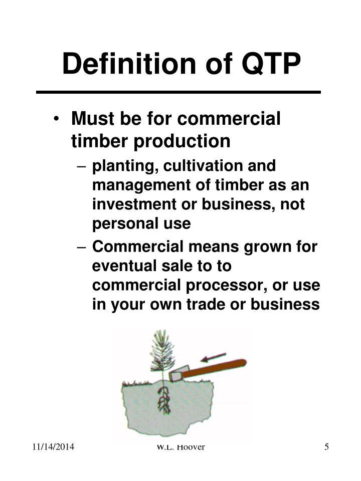Definition of QTP