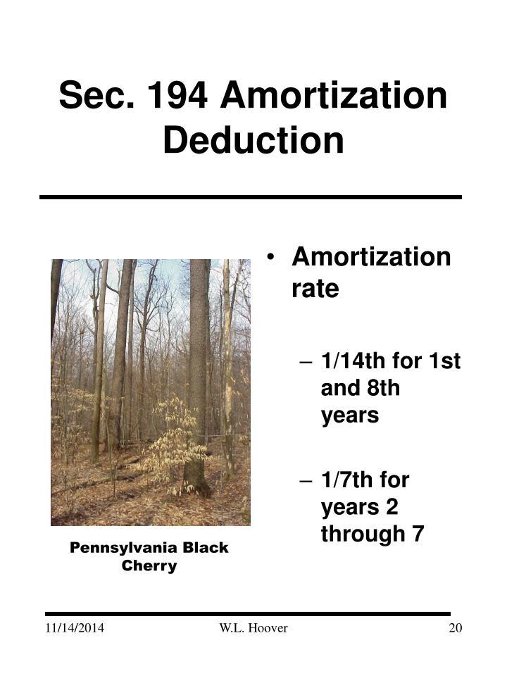 Sec. 194 Amortization Deduction