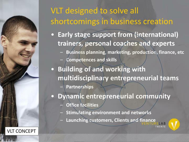 VLT designed to solve all shortcomings in business creation