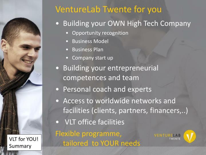 VentureLab Twente for you