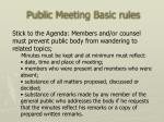 public meeting basic rules