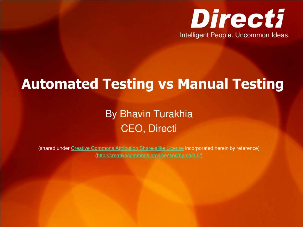 automated testing vs manual testing n.