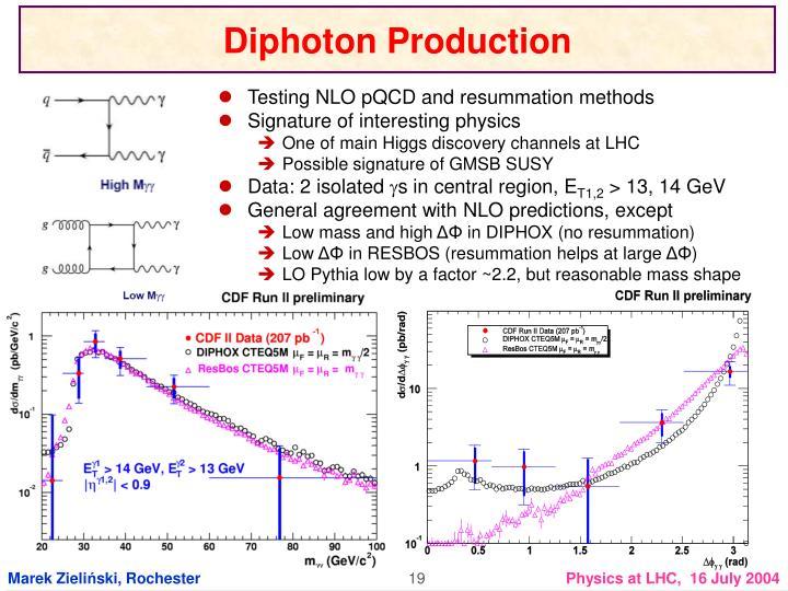Diphoton Production