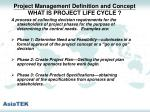 project management definition and concept what is project life cycle