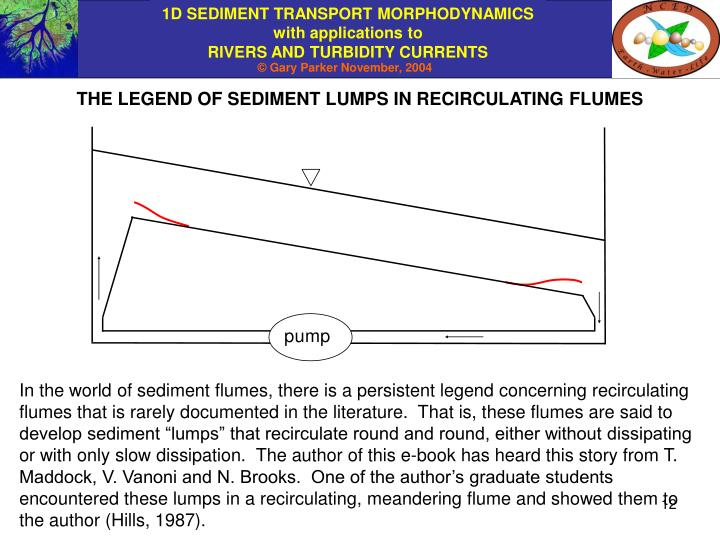 THE LEGEND OF SEDIMENT LUMPS IN RECIRCULATING FLUMES