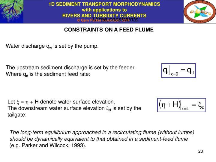 Three constraints: