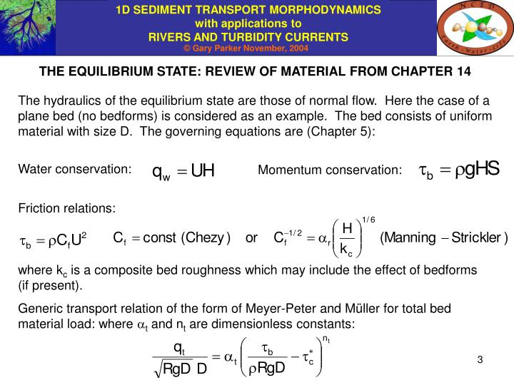THE EQUILIBRIUM STATE: REVIEW OF MATERIAL FROM CHAPTER 14