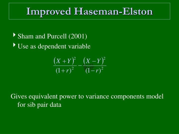 Improved Haseman-Elston