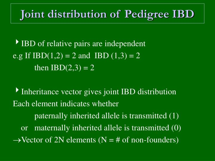 Joint distribution of Pedigree IBD