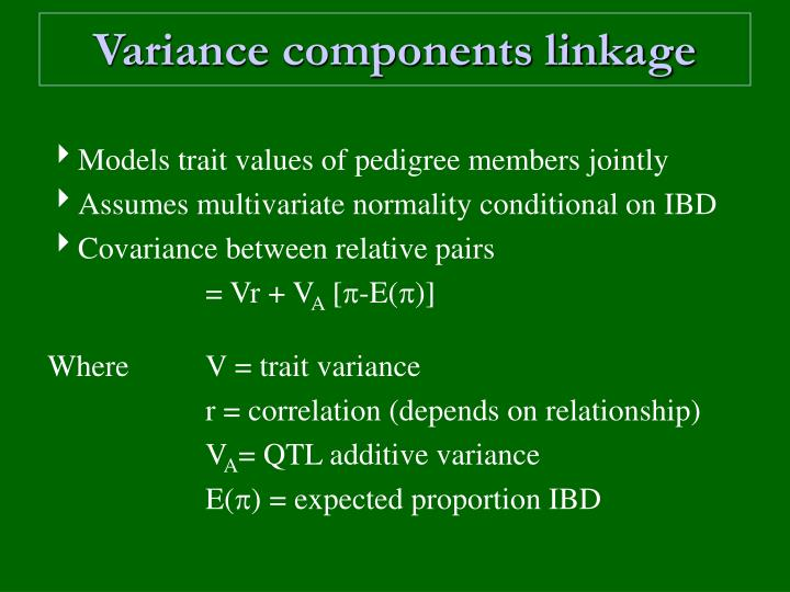Variance components linkage