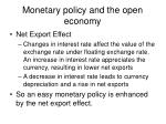 monetary policy and the open economy