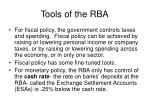 tools of the rba