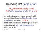 decoding rm large error1