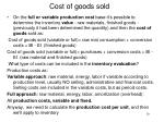 cost of goods sold1