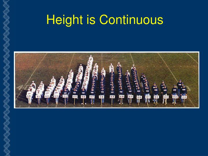 Height is Continuous