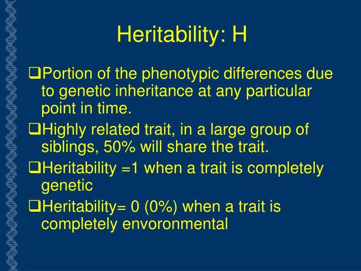 Heritability: H