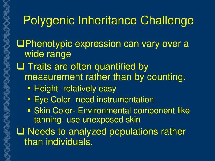 Polygenic Inheritance Challenge
