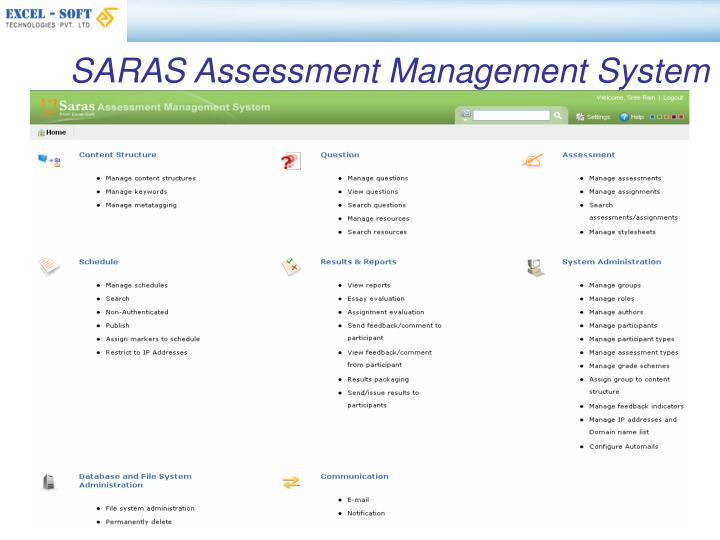 SARAS Assessment Management System