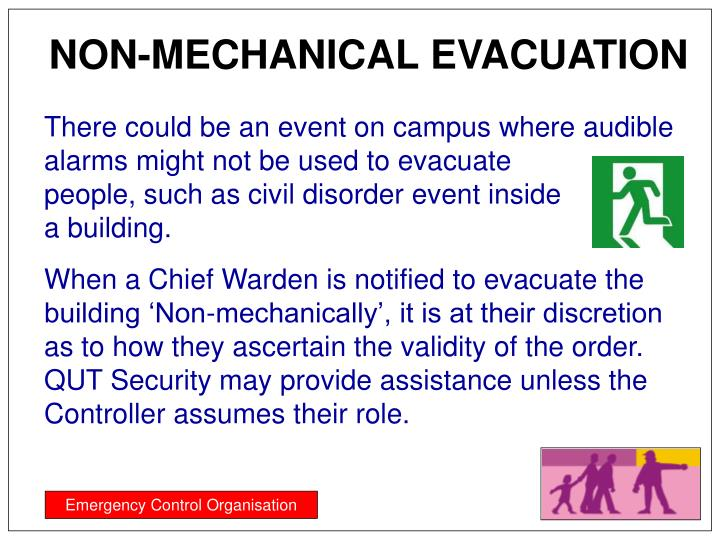 NON-MECHANICAL EVACUATION