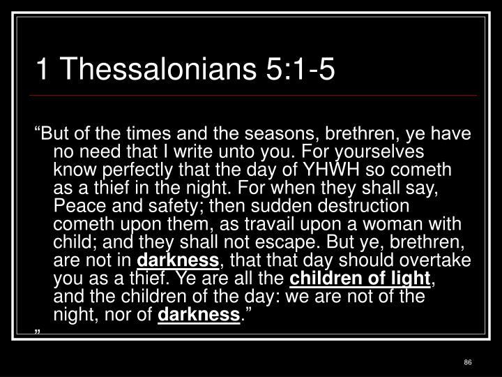 1 Thessalonians 5:1-5