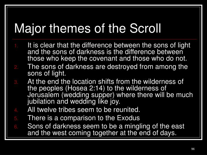 Major themes of the Scroll
