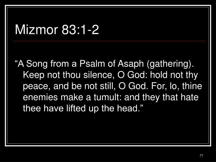 Mizmor 83:1-2