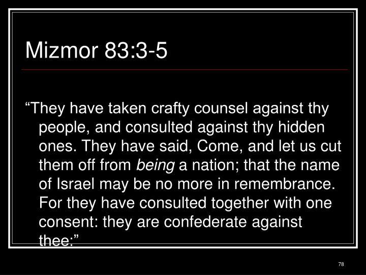 Mizmor 83:3-5