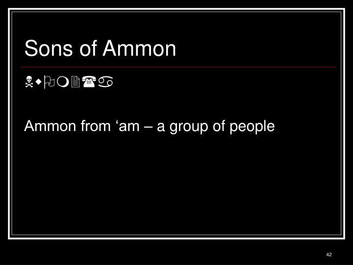 Sons of Ammon