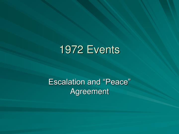 1972 Events
