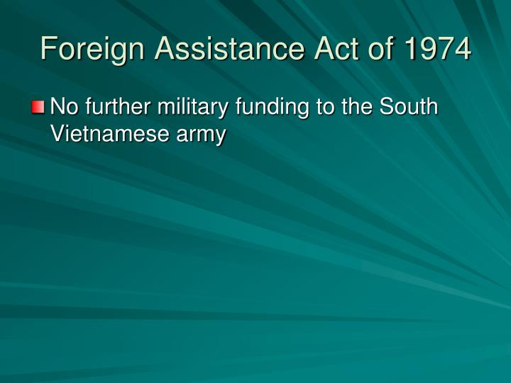 Foreign Assistance Act of 1974