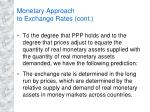 monetary approach to exchange rates cont