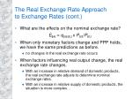 the real exchange rate approach to exchange rates cont5