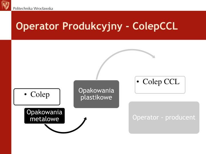 Operator Produkcyjny - ColepCCL