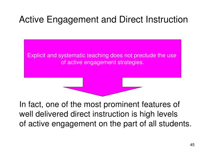 Active Engagement and Direct Instruction