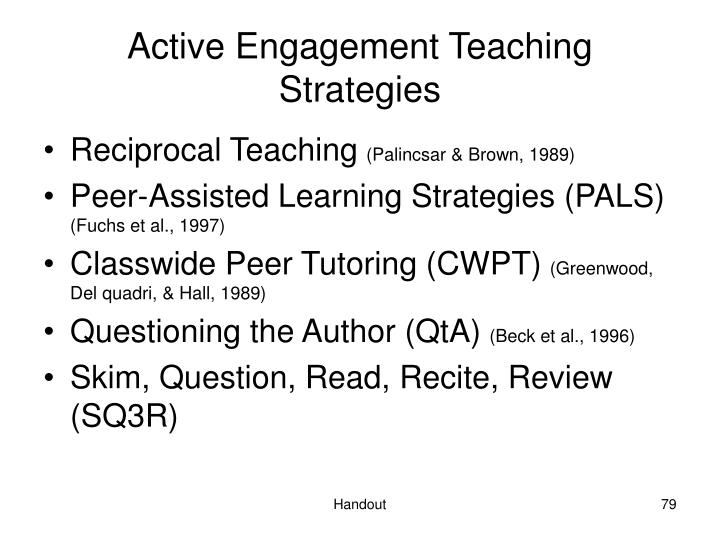 Active Engagement Teaching Strategies