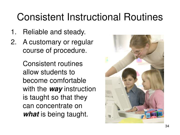 Consistent Instructional Routines
