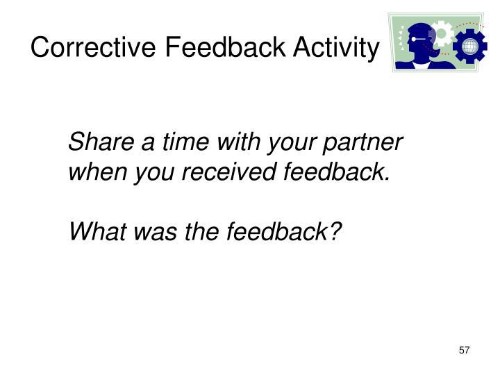 Corrective Feedback Activity