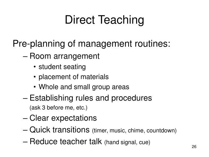 Direct Teaching
