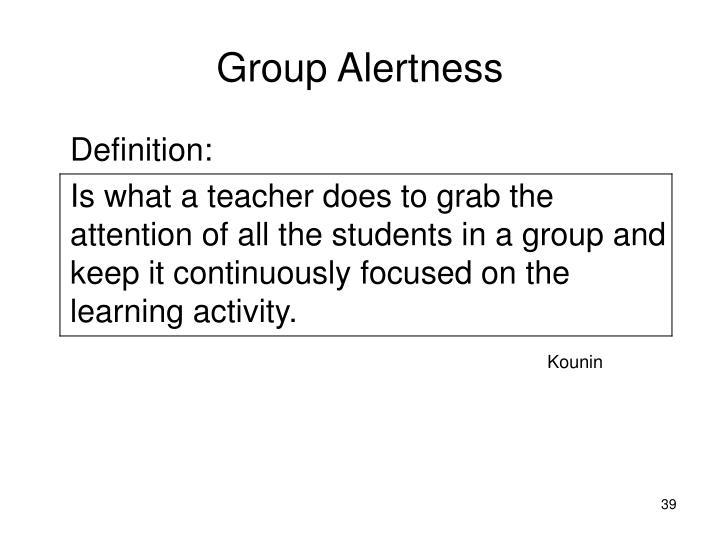 Group Alertness