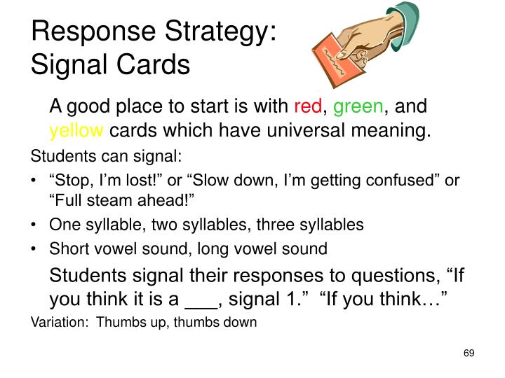 Response Strategy: